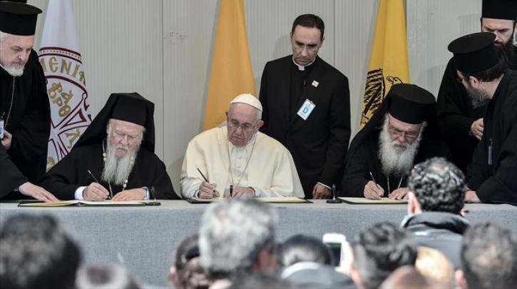 oikoumenikos-patriarxis-bartholomaios-papas-fragkiskos-o-arxiepiskopos-athinon-kai-pasis-ellados-ieronumos